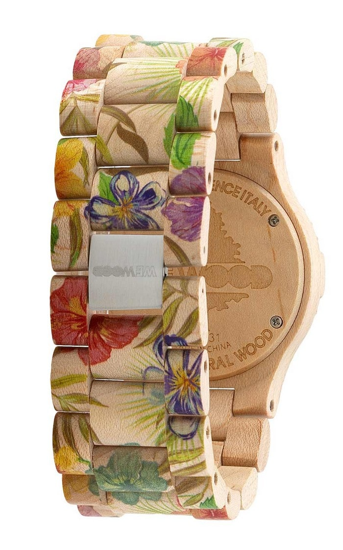 montre érable Date Flower wewood