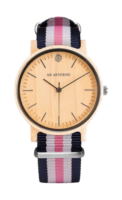 montre wave 35 bleu blanc rose