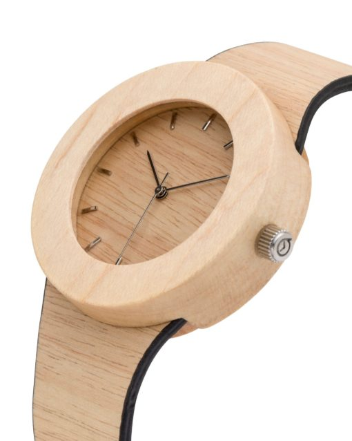 montre en bois Silverheart-maple